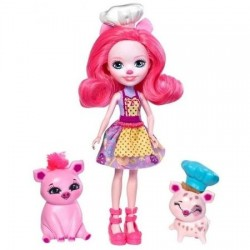 Set de joaca Mattel EnchanTimals Papusa Fanci Flamingo si figurina Swash