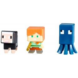 Set 3 bucăți figurine Minecraft