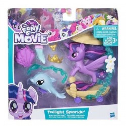 Figurina Twilight Sparkle Ponei Sirena cu trasura My Little Pony:Filmul