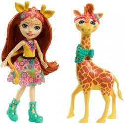 Set Mattel EnchanTimals Papusa Gillian Giraffe si figurina Pawl