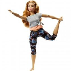 Papusa Mattel Barbie Flexibila Made To Move Satena