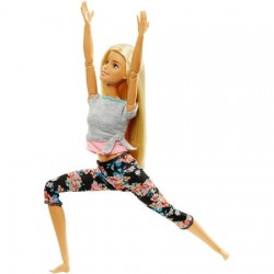 Papusa Mattel Barbie Flexibila Made To Move Blonda