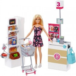 Set de joaca Mattel Barbie Supermarket