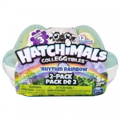 Set figurine Hatchimals ColEggtibles Rhythm Rainbow cu 2 ousoare in cofraj, Sezonul 3