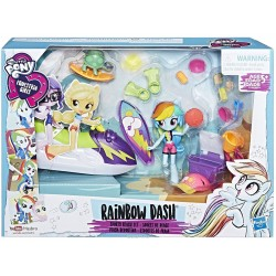 Set Hasbro Figurina My Little Pony Equestria Girls Rainbow Dash Sporty Beach