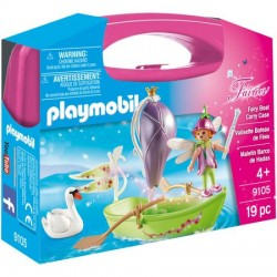 Set Playmobil Fairies - Set Portabil - Barcuta Cu Zane 9105