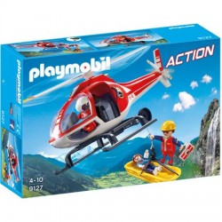 Set Playmobil Action - Salvatori Montani Cu Elicopter 9127