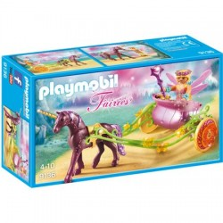 Set Playmobil Fairies - Trasura Cu Unicorn Si Zane 9136