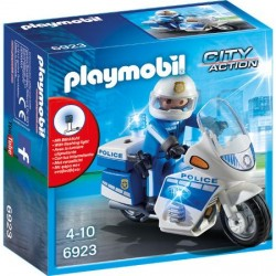Set Playmobil City Action Police, Motocicleta Politiei cu Led