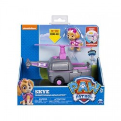 Vehicul cu figurina Spin Master PAW Patrol Skye Transforming Helicopter