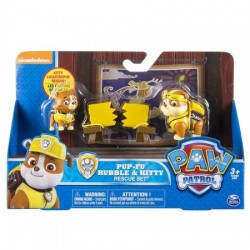 Set de joaca Pup-Fu Rubble si Kitty Patrula Catelusilor