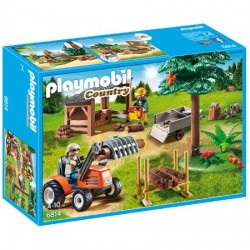Country Playmobil - Forester House - Depozit de Cherestea cu Tractor