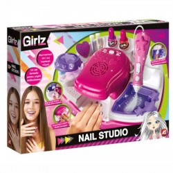 Set Clementoni Girlz, Nail Studio