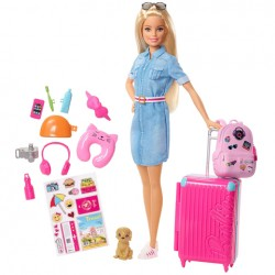 Set de joaca Papusa Barbie Turista Dreamhouse Adventures
