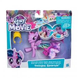 Figurina My Little Pony, ponei de mare, cu rochita, Twilight Sparkle