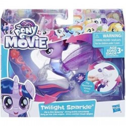 Figurina Sirena Twilight Sparkle cu apa Flip&Flow My Little Pony:Filmul