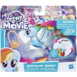 Figurina Sirena Rainbow Dash cu apa Flip&Flow My Little Pony:Filmul