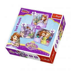 Puzzle 3 In 1 Trefl - Sofi Aand Her Friends Sofia The First, 20/36/50 piese (34814)
