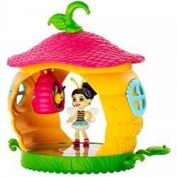 Set de joaca Mattel Enchantimals Petal Park Beehive Bathroom cu mini figurina Beetrice Bee