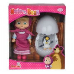 Masha si pinguinul care iese din ou Masha & the Bear
