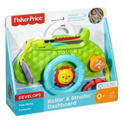 Jucarie interactiva cu sunete Fisher-Price Rollin and Strollin Dashboard