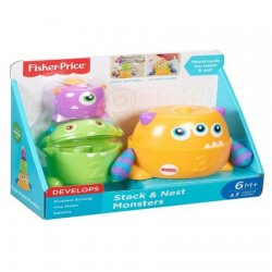 Set de joaca Fisher-Price Stack and Nest Monsters