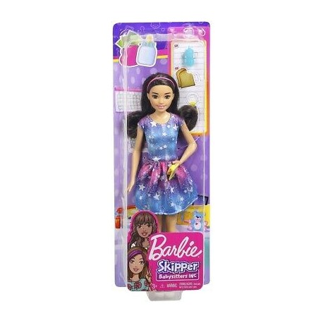 Păpuşă Barbie Skipper Babysisters blonda