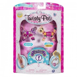 Set Twisty Petz - Pachet 3 figurine transformabile in bratari Rosie Poodle, Chi-Chi Cheetah si figurina surpriza