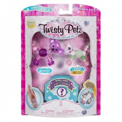 Set Twisty Petz - Pachet 3 figurine transformabile in bratari Queenie Koala, Snowflakes Unicorn si figurina surpriza