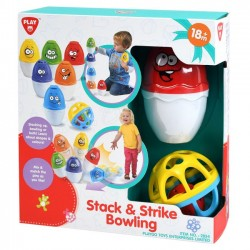 Set joc Playgo Stack & Strike Bowling