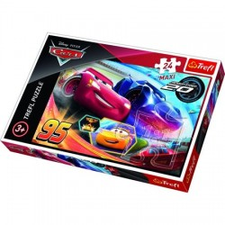 Puzzle 24 Maxi - Cars 3 - Fulger McQueen si Jackson Storm