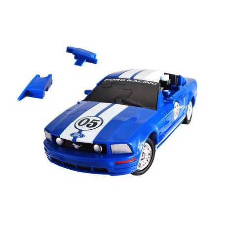 Puzzle 3D - Ford Mustang - 1:32 Blue