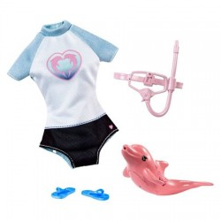 Set Mattel Barbie Dolphin Magic Costum de scufundari si accesorii