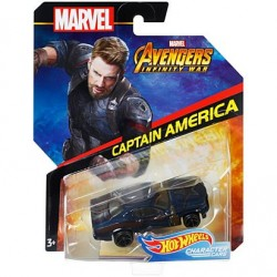 Masinuta Mattel Hot Wheels Marvel - Captain America