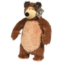 Jucarie de plus Simba Masha and the Bear, Bean Bag Bear 40 cm