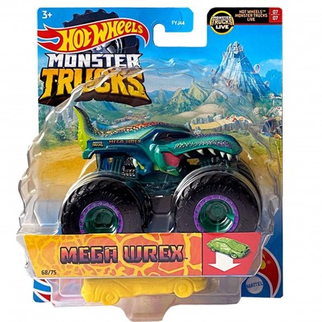 Masinuta Hot Wheels Monster Truck - Invader, 1:64