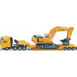 Heavy Haulage Transporter with Flat-Bed Trailer 1:87