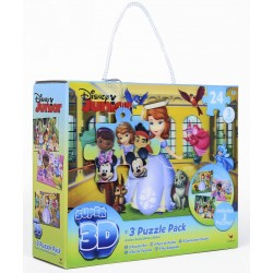 Set 3 puzzle 3D Disney Junior 24 piese