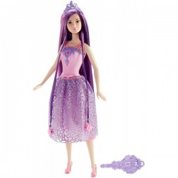 Păpușă Barbie Mattel Long Hair Purple - păr mov