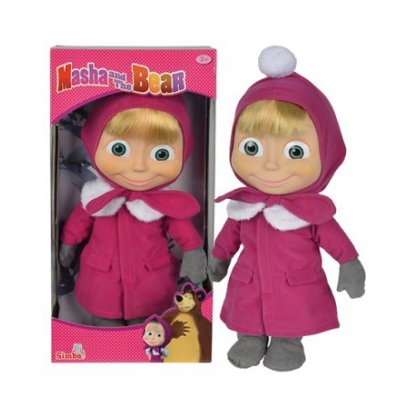 Masha and the Bear - Păpușa Masha 40 cm cu corp moale