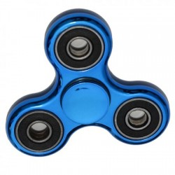 Fidget Spinner - Hand Spinner metalizat - Albastru