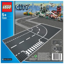 7281 - LEGO City T-junction & Curve