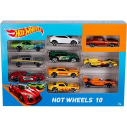 Mattel Set 10 Mașinuțe Hot Wheels în asortiment