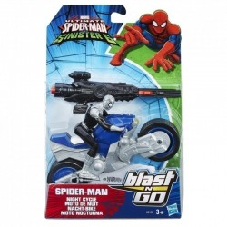 Blast N Go Racers - Spider-Man Night Cycle