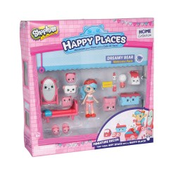 Shopkins Happy Places Set Păpușă și mobilier Dreamy Bear