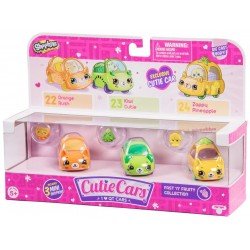 Shopkins Cutie Cars set 3 mașinuțe - Fast 'N' Fruity
