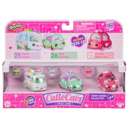 Shopkins Cutie Cars set 3 mașinuțe - Candy Combo
