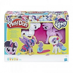 Set de Joaca cu Plastilina Play Doh My Little Pony Princess Twilight & Rarity Fashion Fun