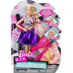 Barbie Crimp & Curl - Set tapat parul cu papusa