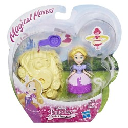 Papusa Magical Movers - Mini printesa cu suport rotativ - Rapunzel